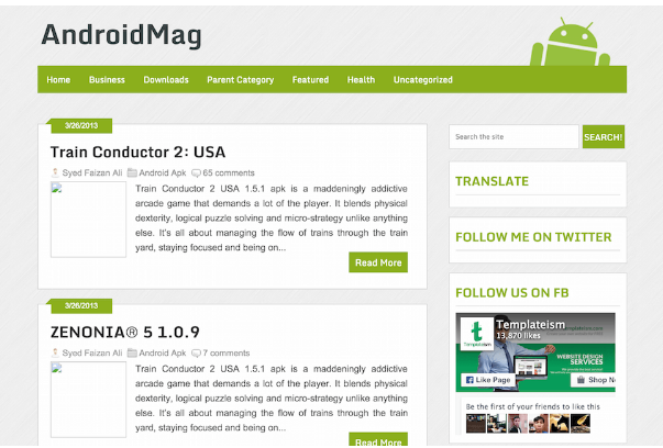 Download Android Mag Blogger Template