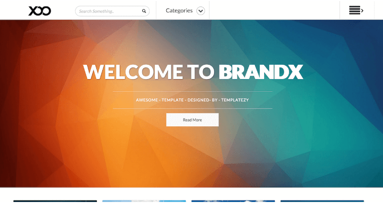Download BrandX Blogger Template