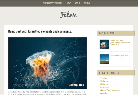 Download Fabric Blogger Template