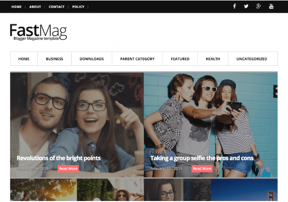 Download Fast Mag Blogger Template