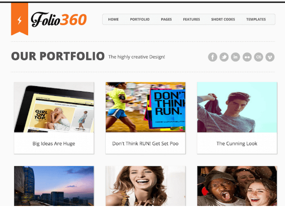 Download Folio360 Blogger Template