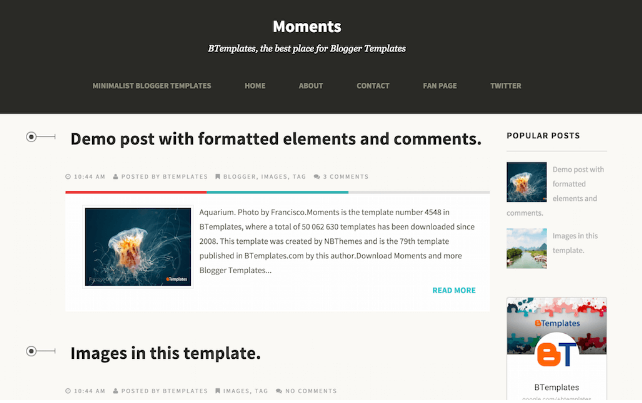 Download Moment Blogger Template