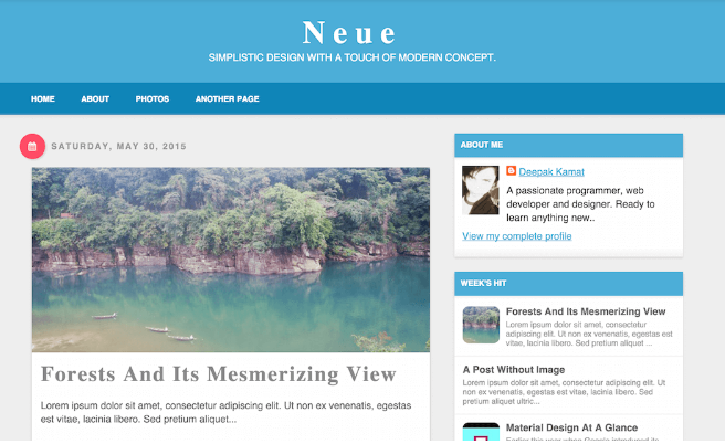 Download Neue Blogger Template