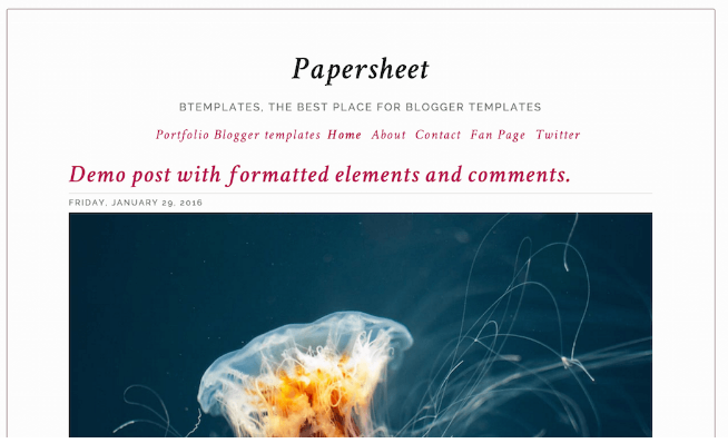 Download PaperSheet Blogger Template
