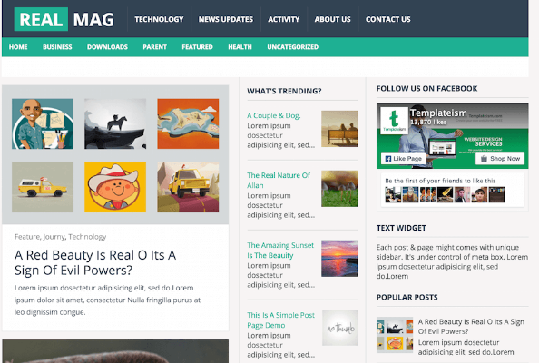 Download Real Mag Blogger Template