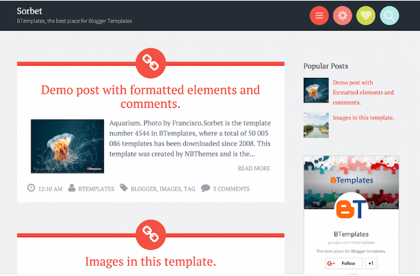 Download Sorbet Blogger Template