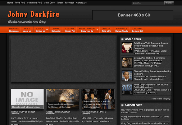 Johny DarkFire Download Blogger Template