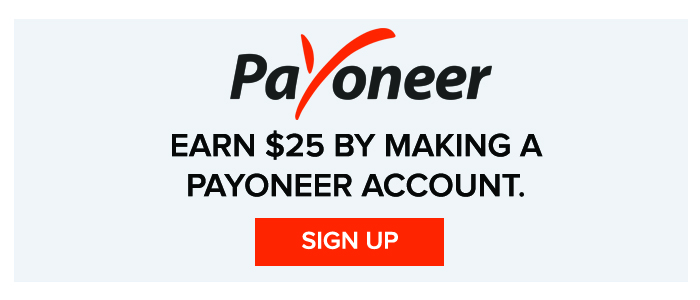 Get $25 Bonus on Signup from Payoneer
