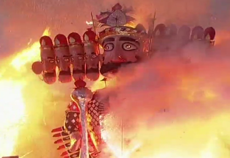 Ravan Dahan Images in India