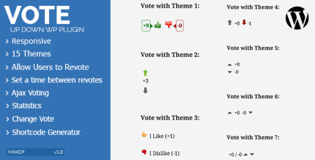Like/Dislike Vote Up Down Plugin