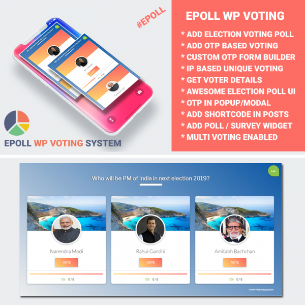 Wordpress Poll Survey & Voting System - Online Contest Plugin